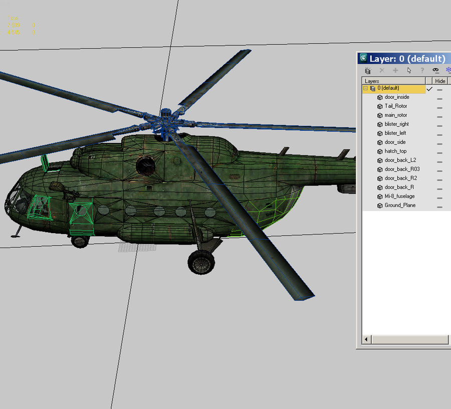 Mi-8 helicopter royalty-free 3d model - Preview no. 15