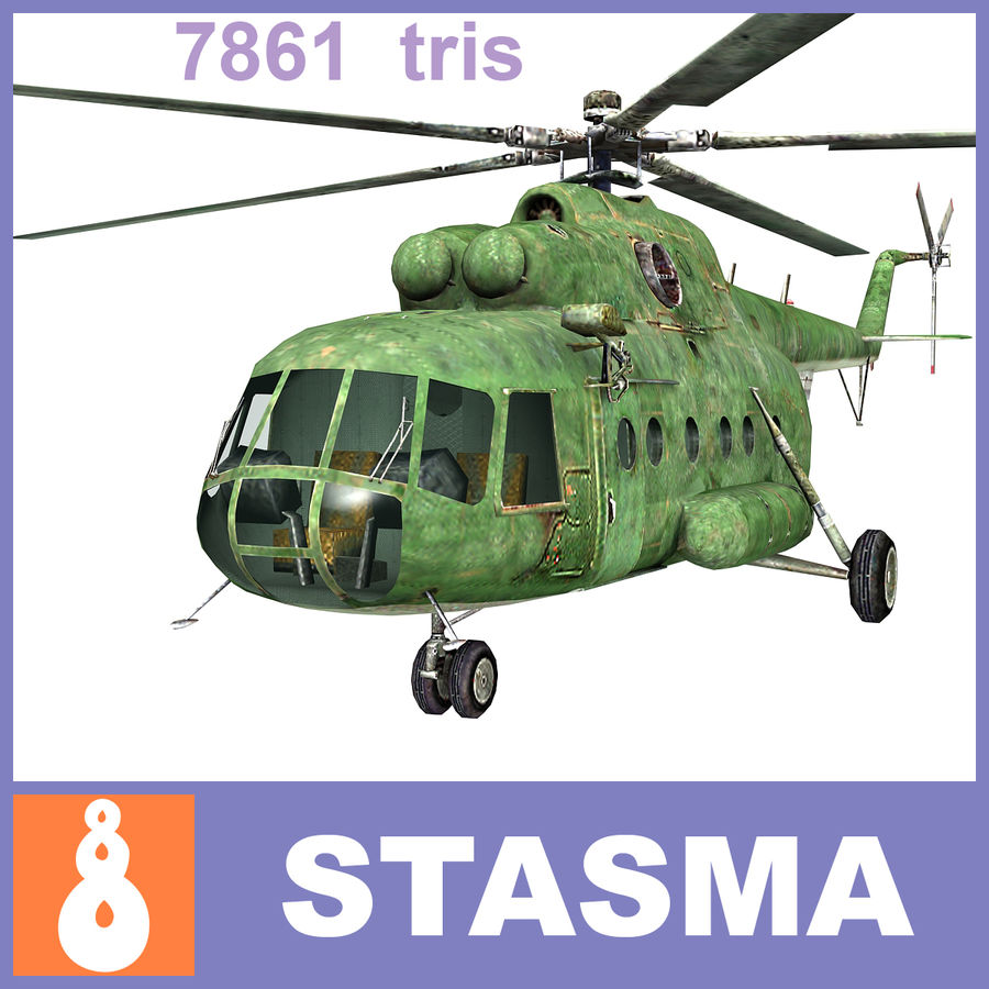 Mi-8 helicopter royalty-free 3d model - Preview no. 1