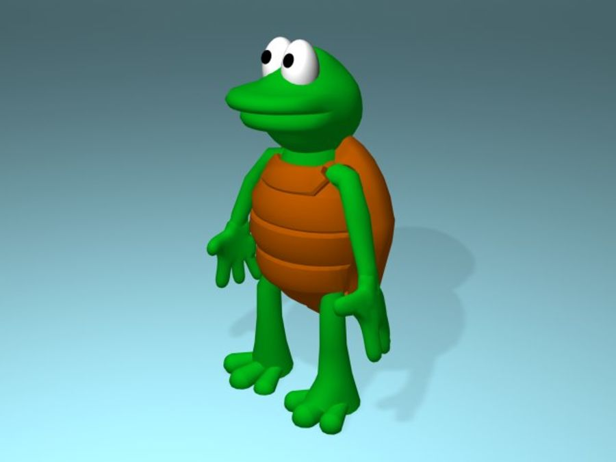 Cartoon Turtle royalty-free 3d model - Preview no. 2