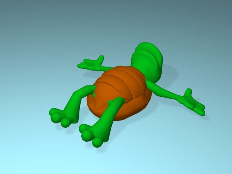 Cartoon Turtle royalty-free 3d model - Preview no. 6
