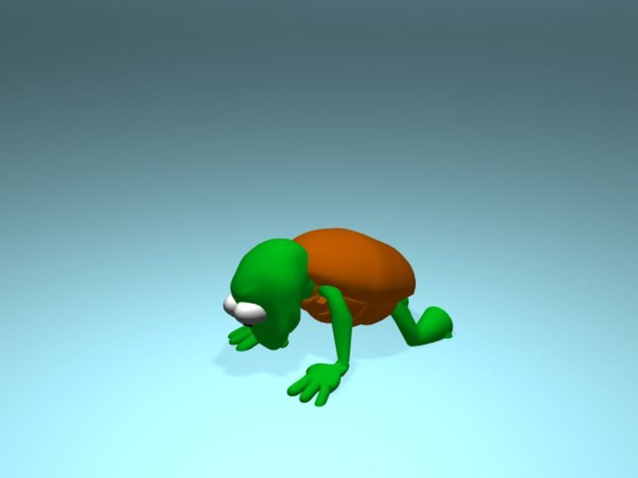 Cartoon Turtle royalty-free 3d model - Preview no. 7