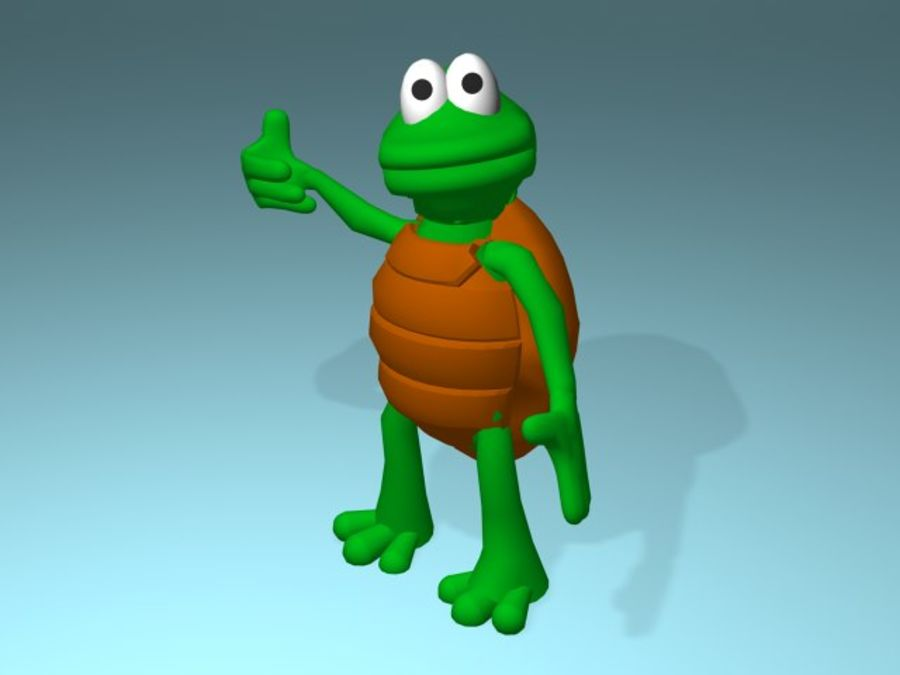 Cartoon Turtle royalty-free 3d model - Preview no. 4