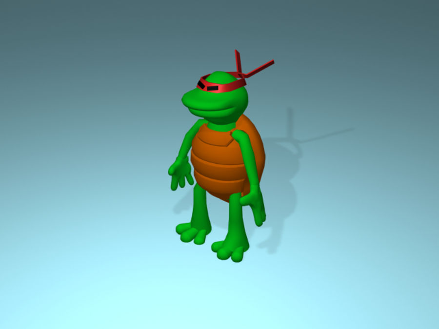 Cartoon Turtle royalty-free 3d model - Preview no. 8