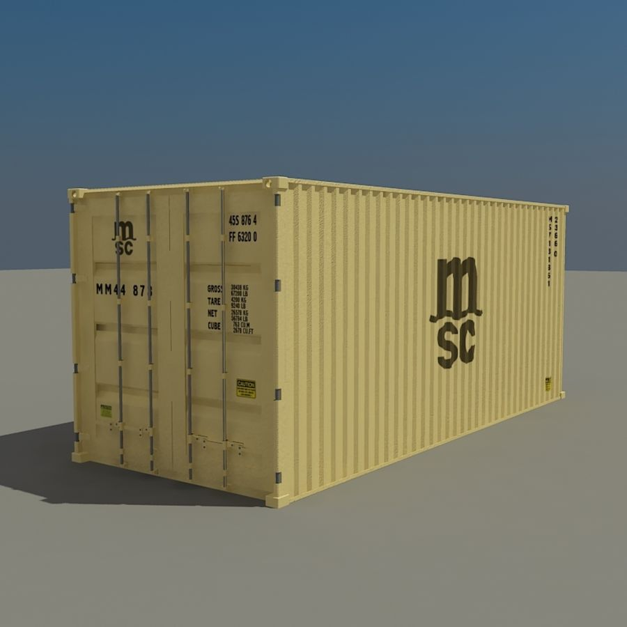 Cargo container MSC royalty-free 3d model - Preview no. 1