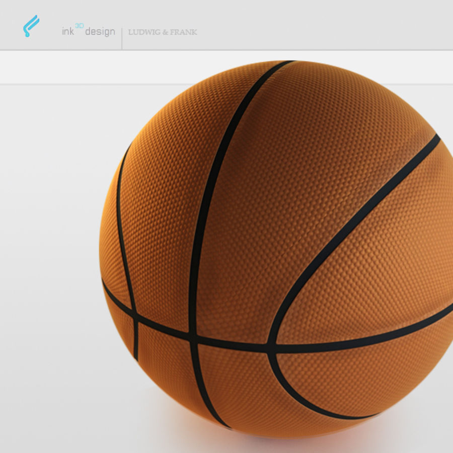 Basketball royalty-free 3d model - Preview no. 2