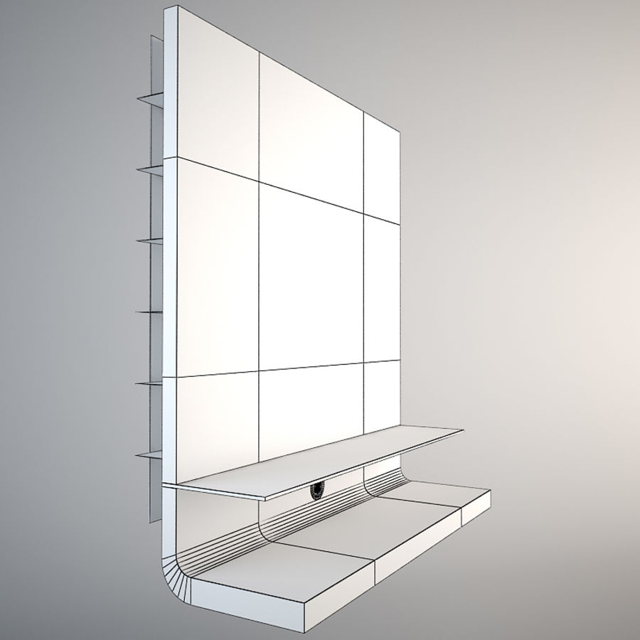 Moderne tv-standaard Moda Look royalty-free 3d model - Preview no. 3