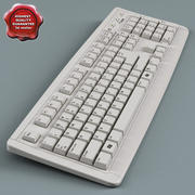 Keyboard Low Poly 3d model