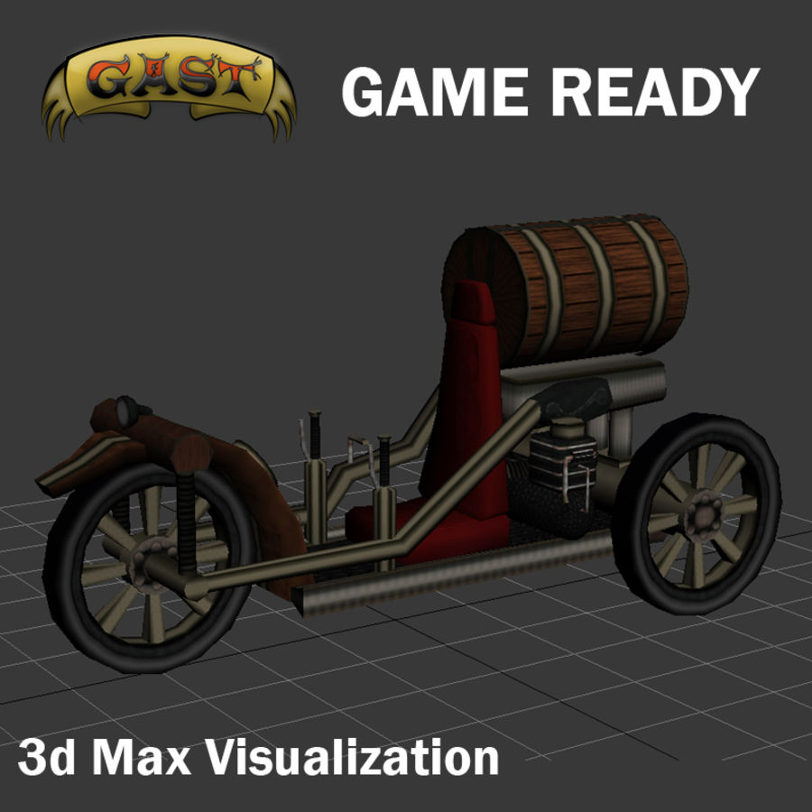 steampunk vehicle(1) royalty-free 3d model - Preview no. 9