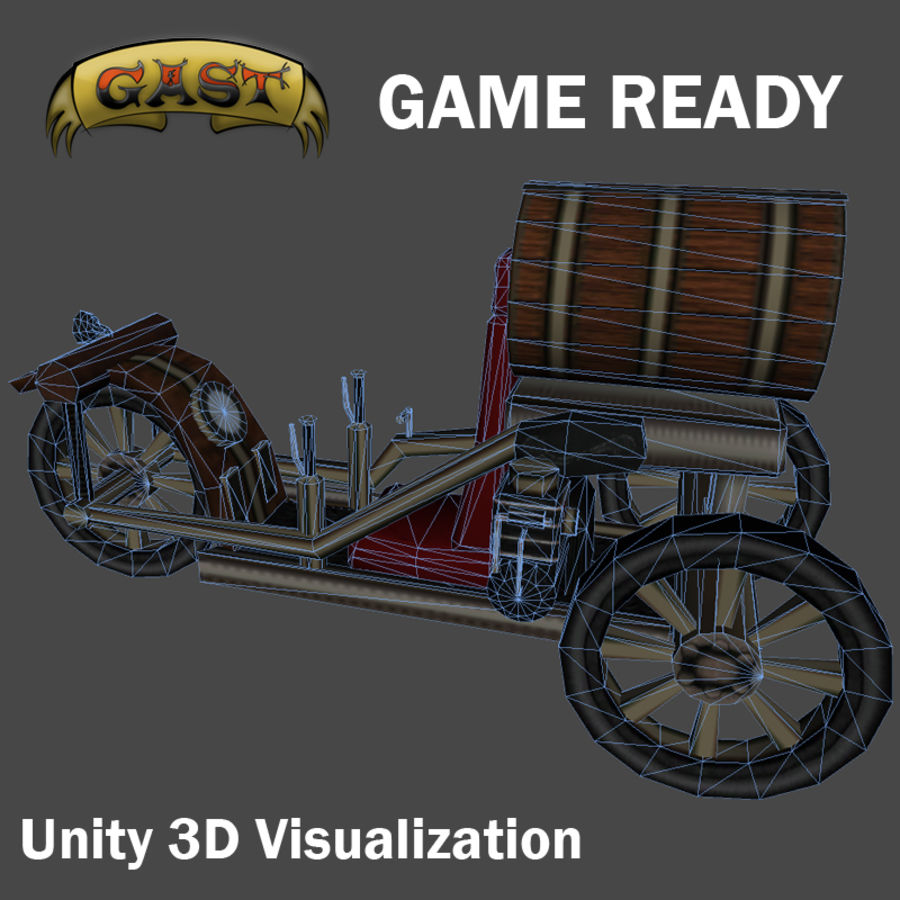 steampunk vehicle(1) royalty-free 3d model - Preview no. 2
