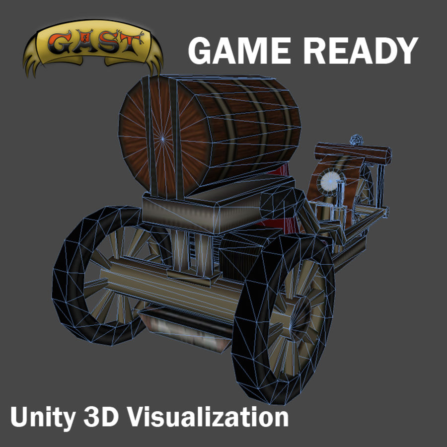 steampunk vehicle(1) royalty-free 3d model - Preview no. 6