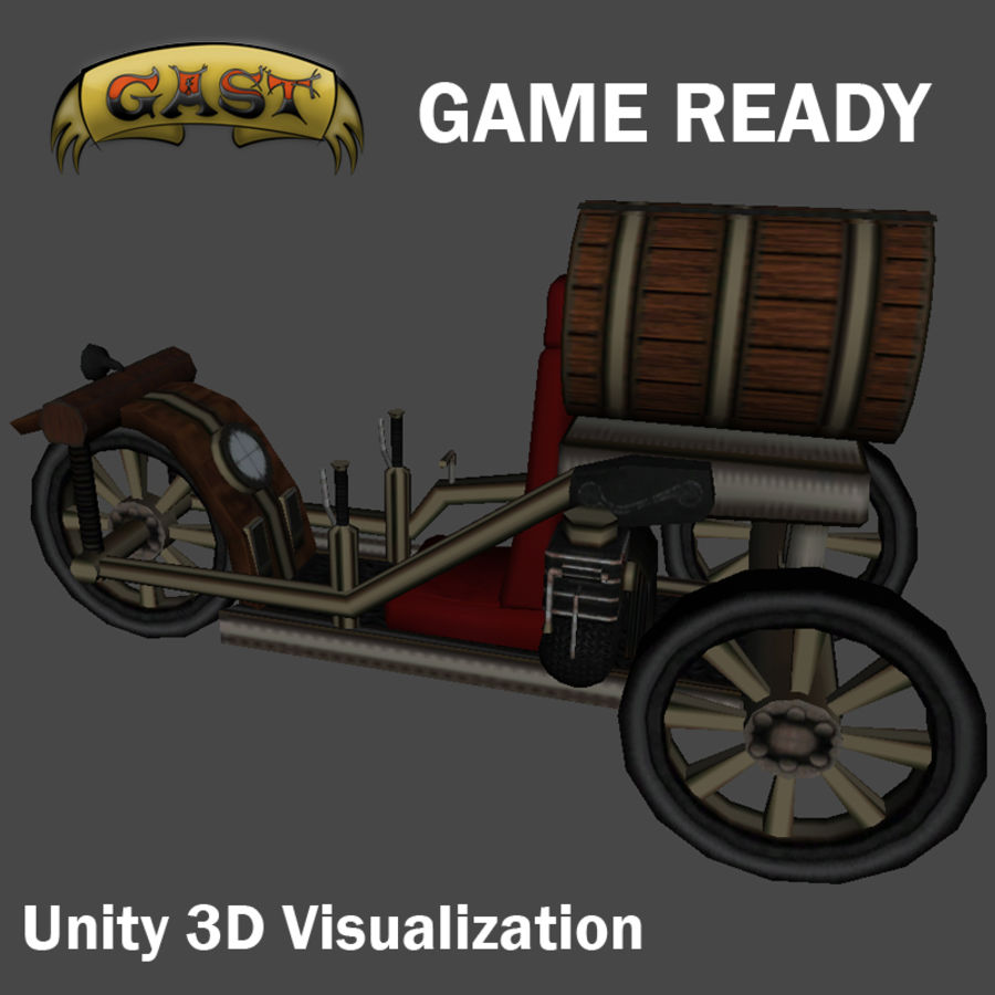 steampunk vehicle(1) royalty-free 3d model - Preview no. 1