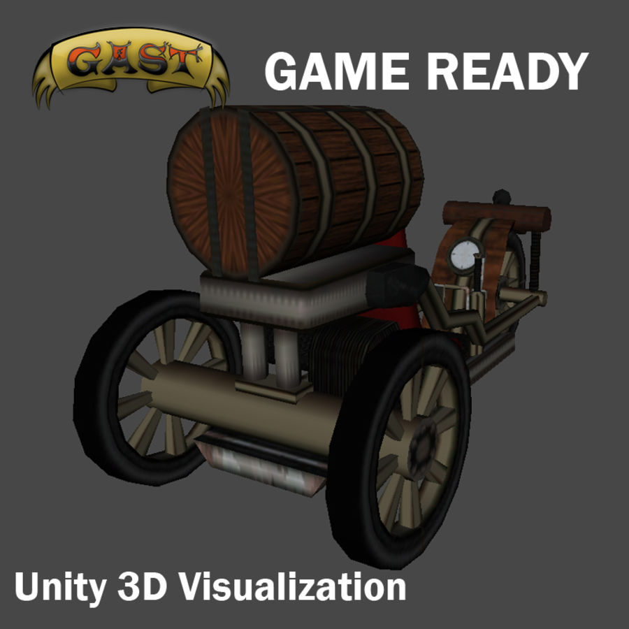 steampunk vehicle(1) royalty-free 3d model - Preview no. 5