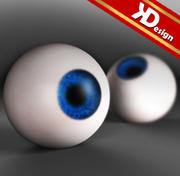 Blått öga 3d model