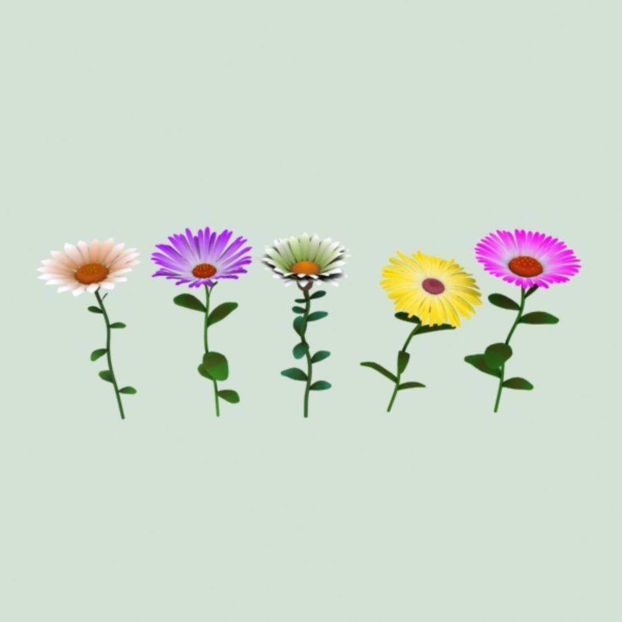 Flowers Cartoon A 3d Model 19 Lwo Xsi Obj X Fbx Free3d
