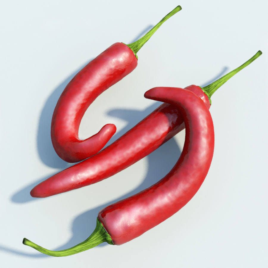 Red Hot Chilli Peppers royalty-free 3d model - Preview no. 1