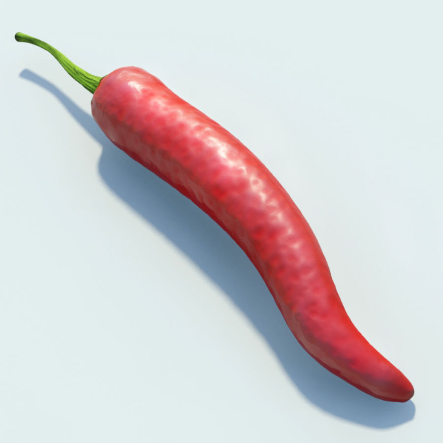 Red Hot Chilli Peppers royalty-free 3d model - Preview no. 5