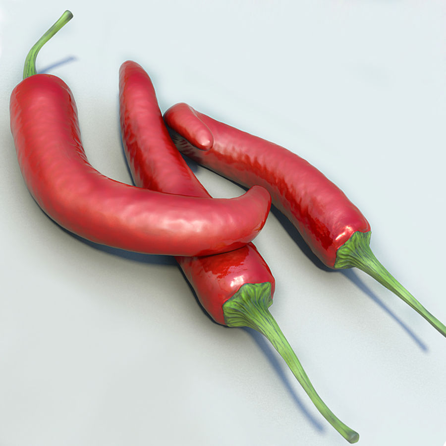 Red Hot Chilli Peppers royalty-free 3d model - Preview no. 3