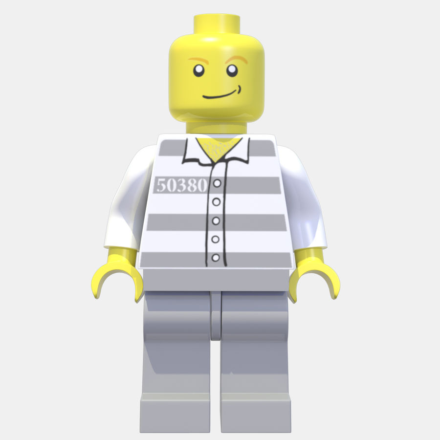 LEGO Minifigure royalty-free 3d model - Preview no. 4