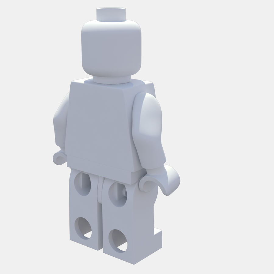 LEGO Minifigure royalty-free 3d model - Preview no. 9