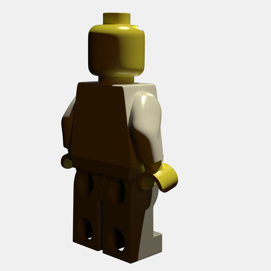 LEGO Minifigure royalty-free 3d model - Preview no. 7