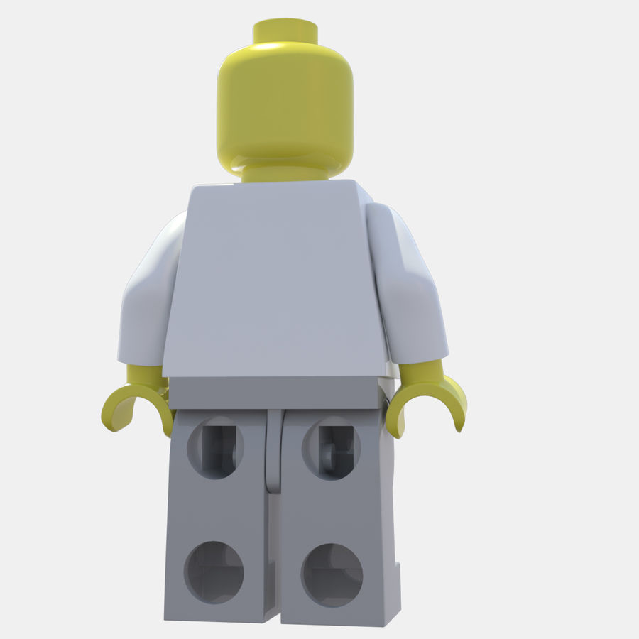 LEGO Minifigure royalty-free 3d model - Preview no. 3