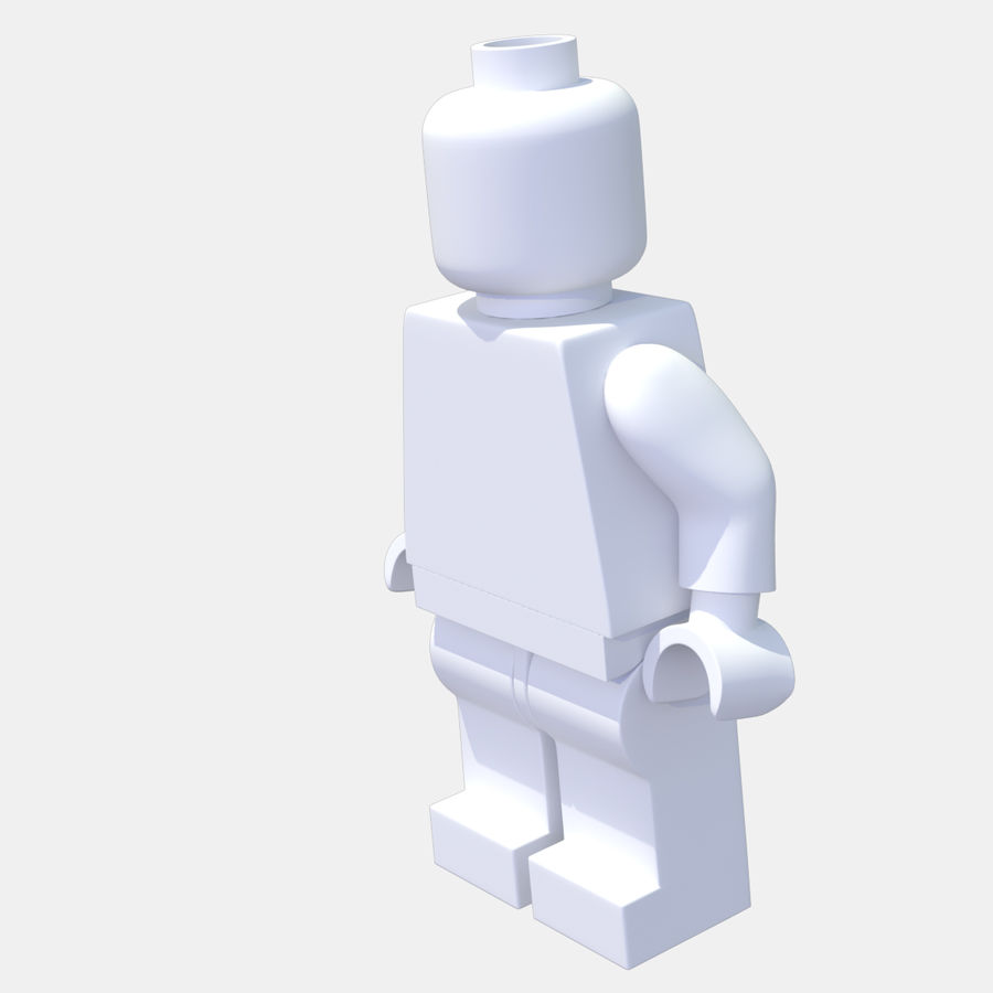 LEGO Minifigure royalty-free 3d model - Preview no. 10