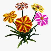 Flowers Cartoon - B 3d model