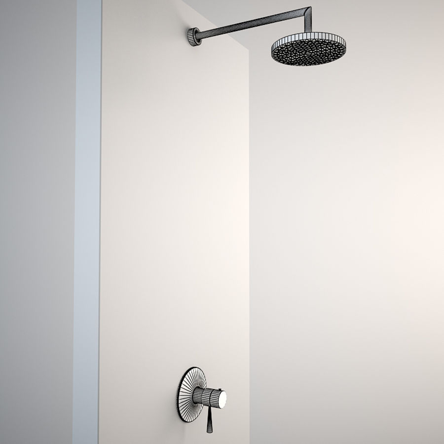 Built in shower royalty-free 3d model - Preview no. 2