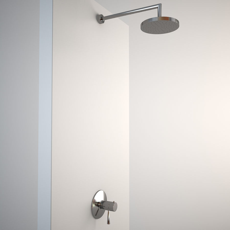 Built in shower royalty-free 3d model - Preview no. 1