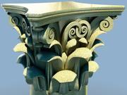 3D-model Corinthische kolom 3d model