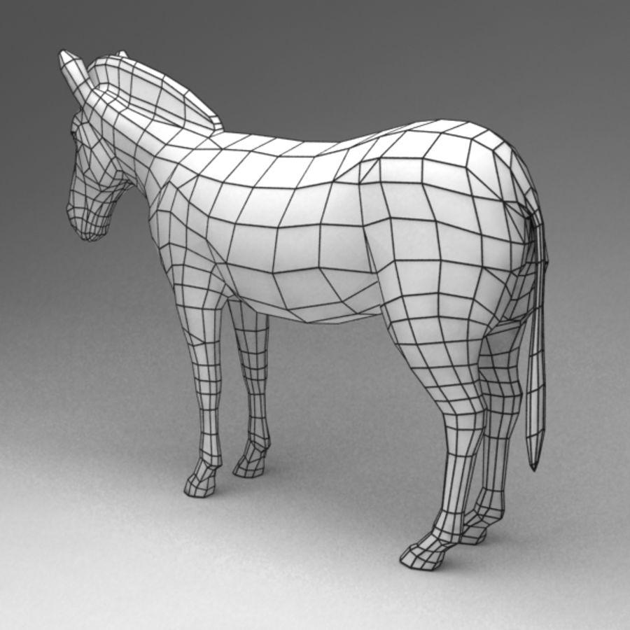 Zebra royalty-free 3d model - Preview no. 7