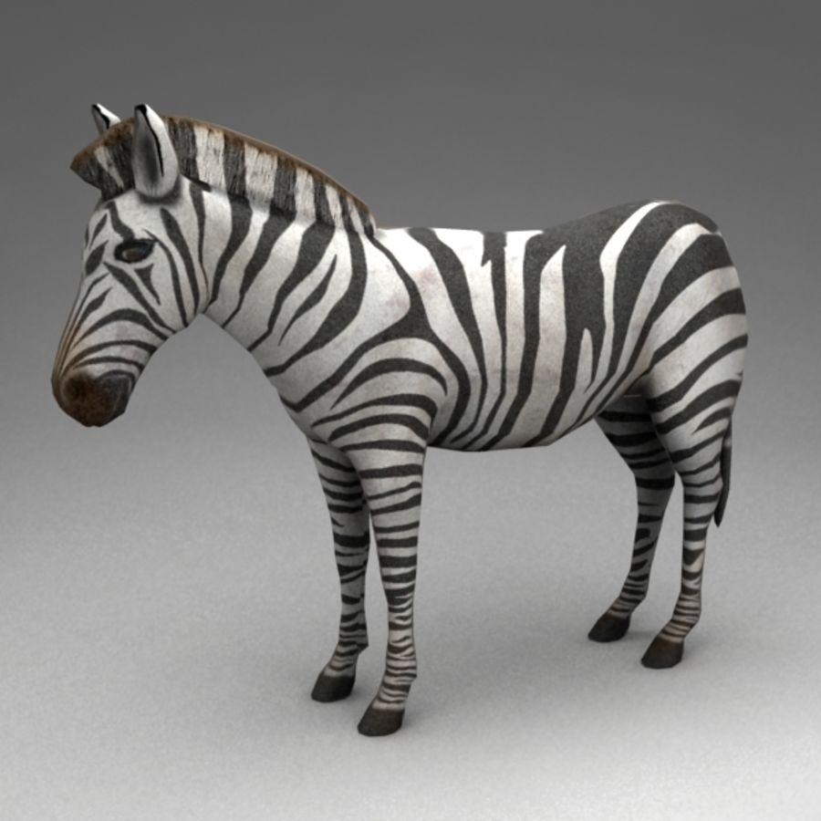 Zebra royalty-free 3d model - Preview no. 2