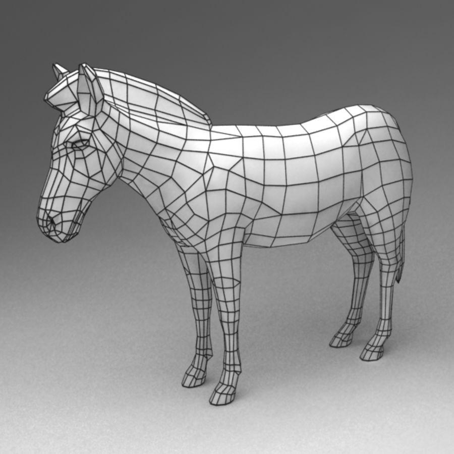 Zebra royalty-free 3d model - Preview no. 6