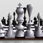Tablero de ajedrez modelo 3d