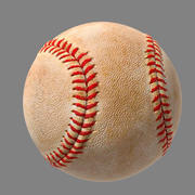 Baseball with dirt and new 3d model