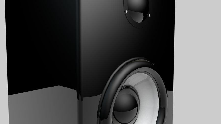 3D Speaker Model royalty-free 3d model - Preview no. 3