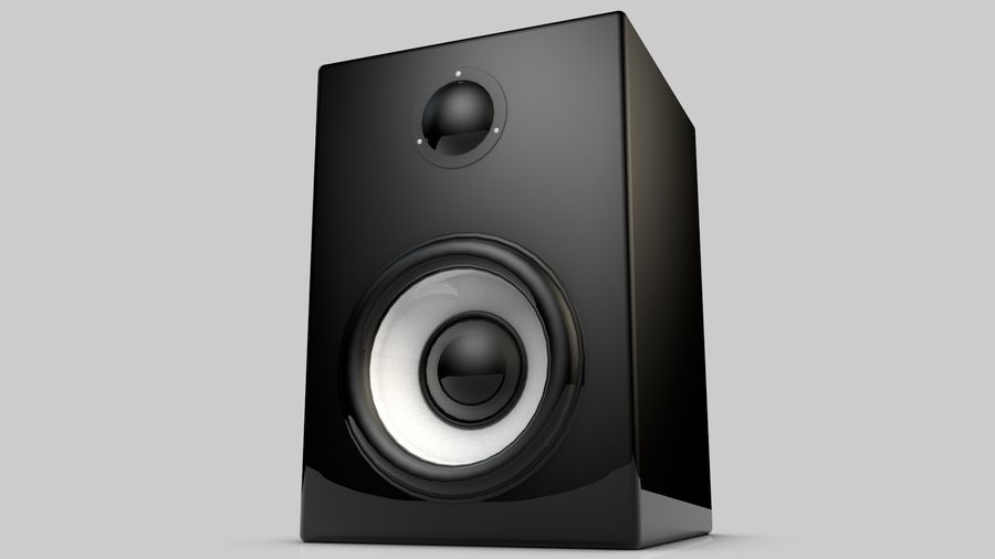 3D Speaker Model royalty-free 3d model - Preview no. 1