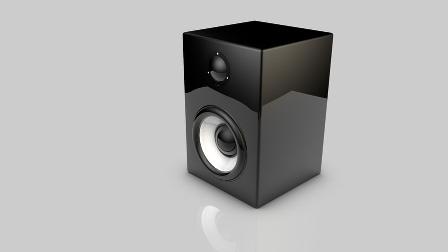 3D Speaker Model royalty-free 3d model - Preview no. 5