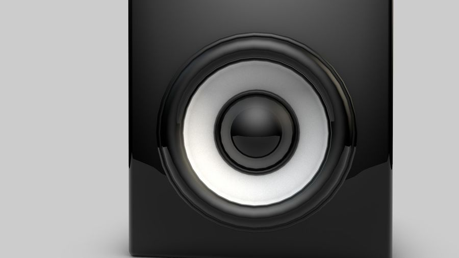 3D Speaker Model royalty-free 3d model - Preview no. 2