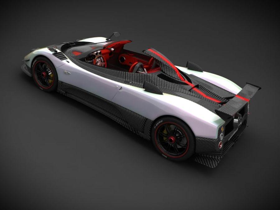 Pagani Zonda Cinque Roadster 3d Model 25 X Obj Fbx 3ds