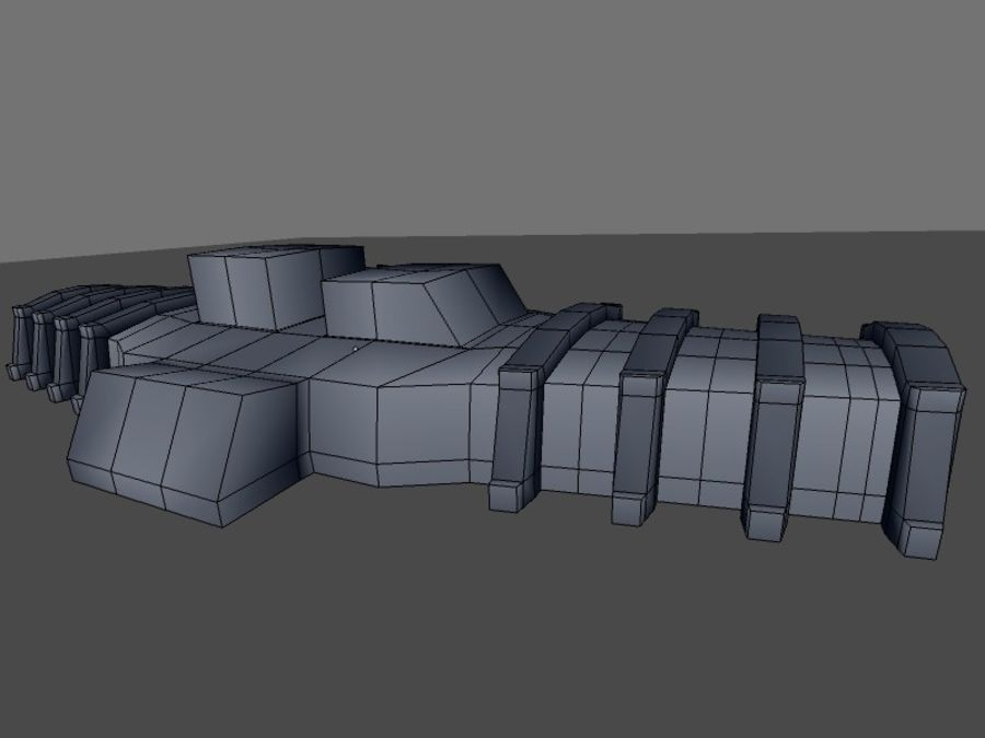 low poly war factory 01 royalty-free 3d model - Preview no. 27