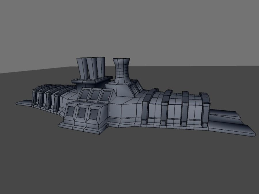 low poly war factory 01 royalty-free 3d model - Preview no. 20