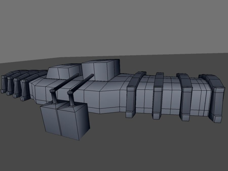 low poly war factory 01 royalty-free 3d model - Preview no. 26
