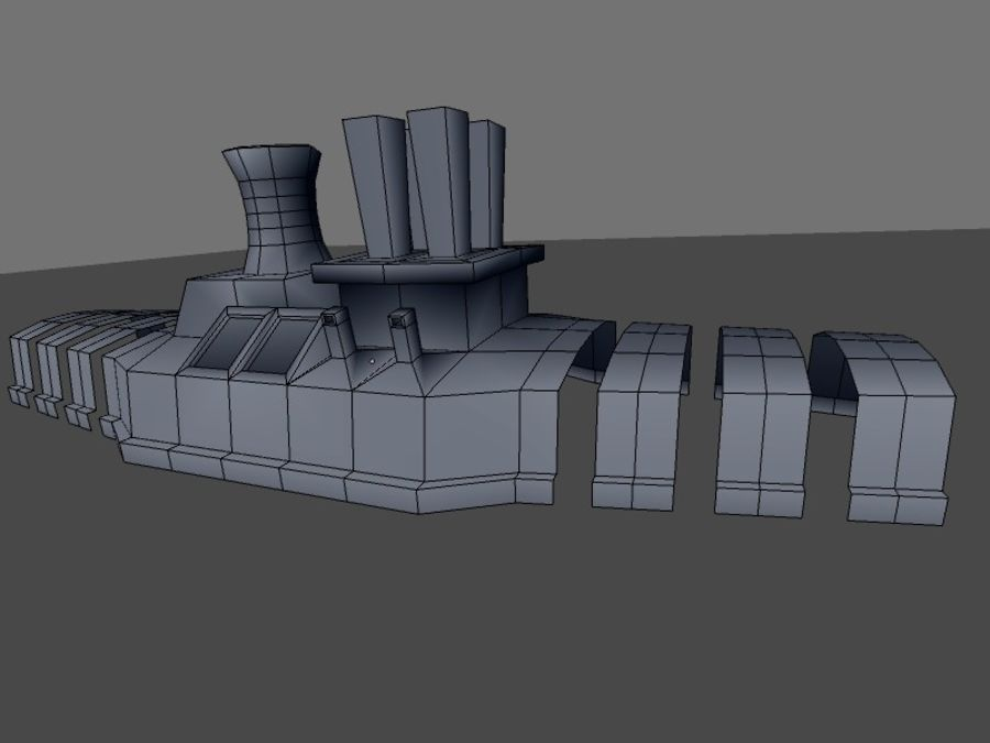low poly war factory 01 royalty-free 3d model - Preview no. 25