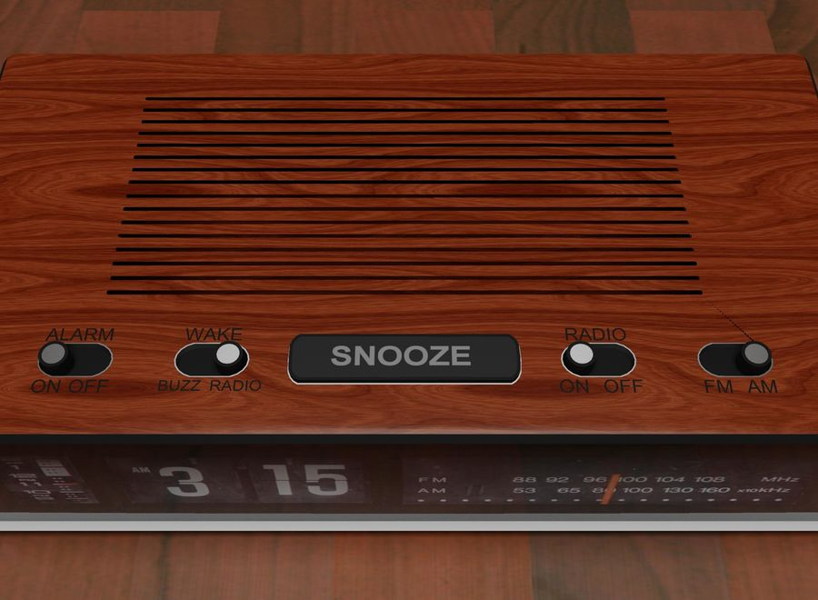 Alarm Clock Radio royalty-free 3d model - Preview no. 6