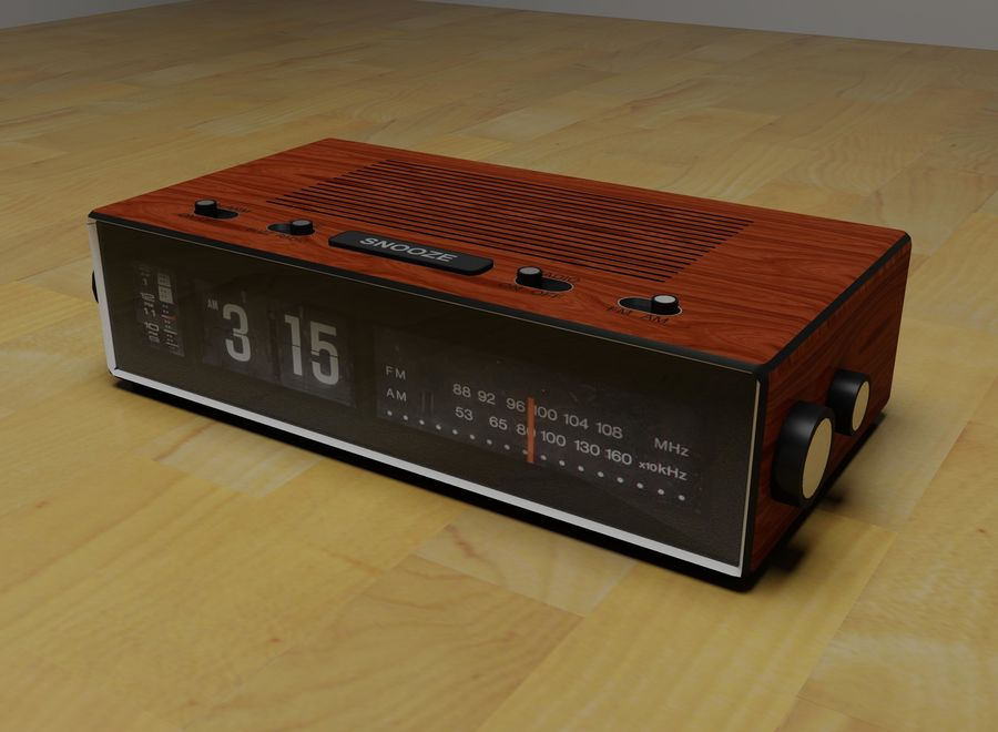 Alarm Clock Radio royalty-free 3d model - Preview no. 1