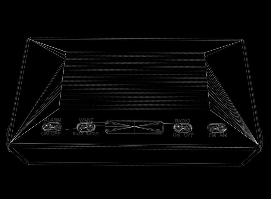 Alarm Clock Radio royalty-free 3d model - Preview no. 9