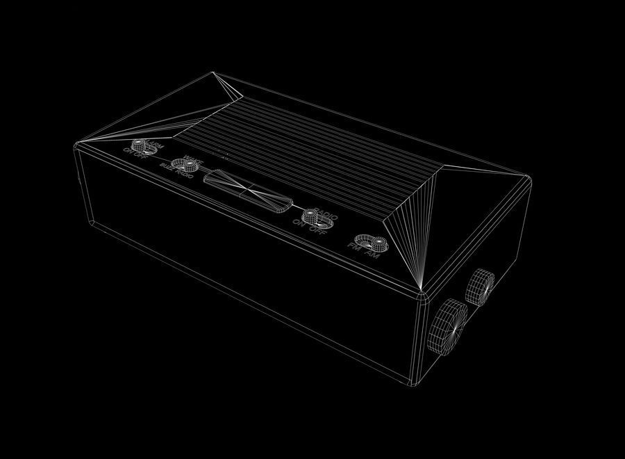 Alarm Clock Radio royalty-free 3d model - Preview no. 7