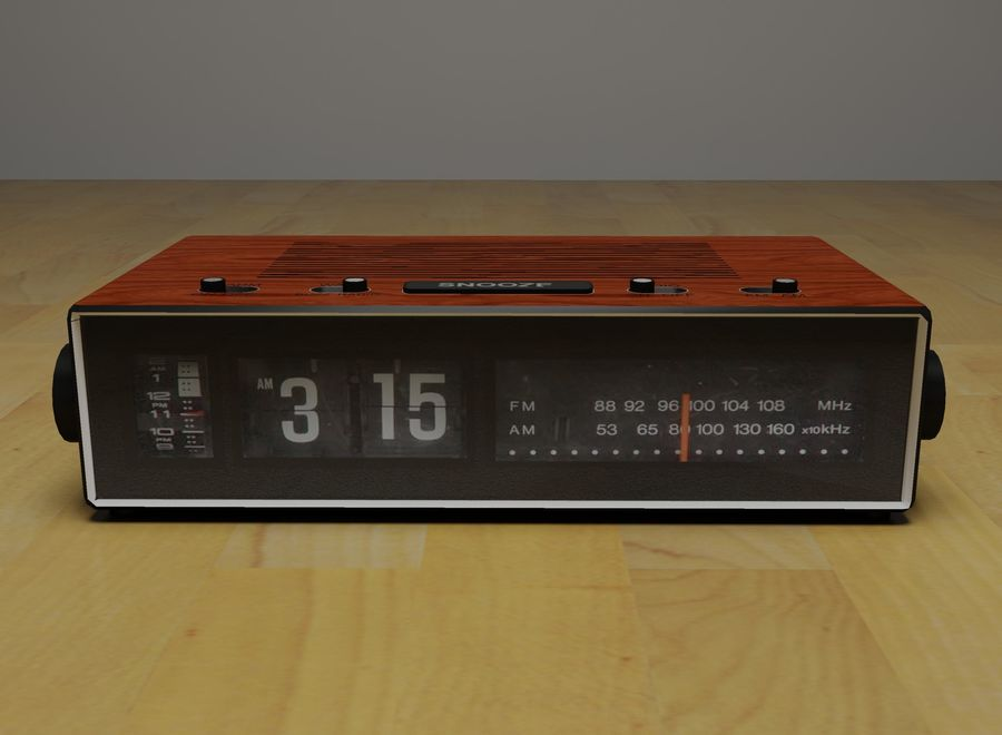 Alarm Clock Radio royalty-free 3d model - Preview no. 5