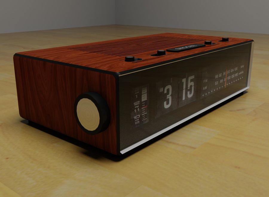 Alarm Clock Radio royalty-free 3d model - Preview no. 4